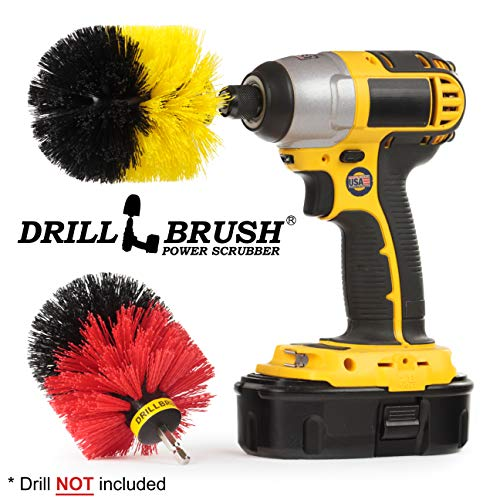 (Spin Brush Cleaning Kit - Drill Brush - Concrete, Brick, Fireplace, Stone - Bird Bath - Garden Statuary - Bathroom Accessories - Soap Scum, Hard Water, Mineral, Calcium, Rust Stains And Discoloration )