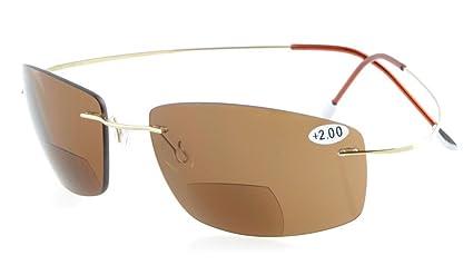 Eyekepper titanio UV400 sin montura policarbonato lentes de ...