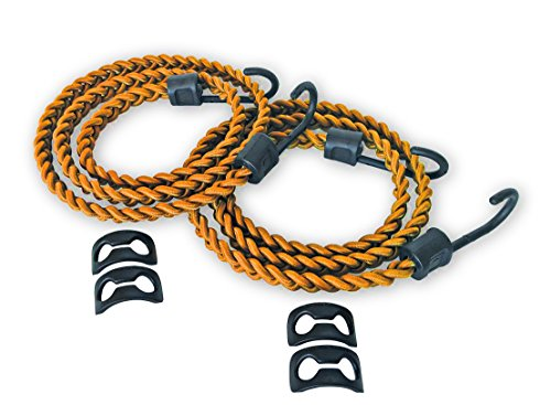 Tribe One Jungle Cord Braided Shock Cord Bungee with Packtach Fasteners (Orange)