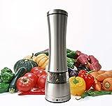 Tmvel Stainless Steel Black Pepper Grinder or Salt Mill Strong Ceramic Grinder Mechanism 8.5 Inches
