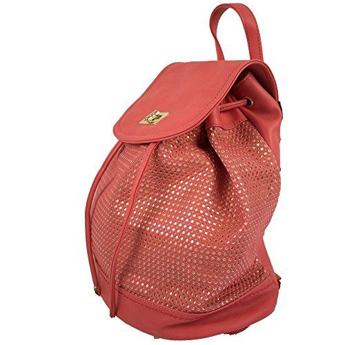No Name - Bolso mochila  para mujer Coral