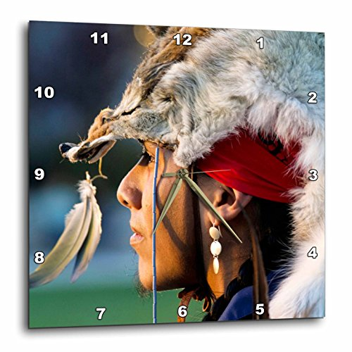 3dRose dpp_92647_3 Native American Headdress, Santa Fe, New Mexico-US32 JMR0247-Julien McRoberts-Wall Clock, 15 by - Mexico Santa Fe Outlet New