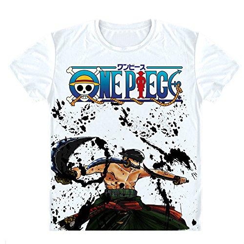 [Onecos One Piece Roronoa Zoro Logo T-shirt Size XL(height69in, chest43 in) B] (Roronoa Zoro Costumes)