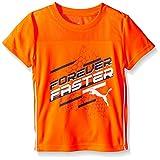 PUMA Little Boys' Active Short Sleeve Tee Shirt, Fire Orange, 5