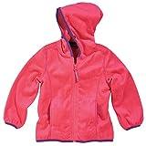 Little Girl Hot Pink Minky Fleece Hooded Jacket by Cozy Cub, Size 5-6