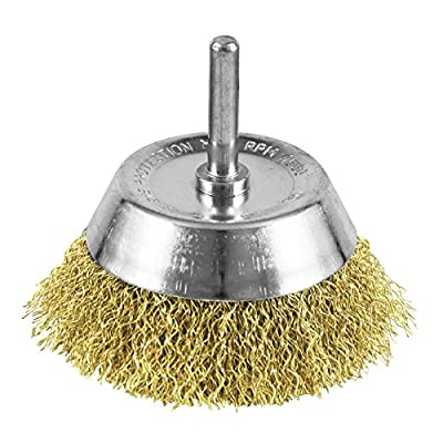 """EAB Tool 2160409 3"""" Brass Fine Wire Cup Wire Brush - Recyclable,"""