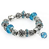 Glamour Jewelry Women's Beads Personalized Pendant Bracelet(Blue 17)