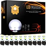 LED Monster 10 Pack White Twist Socket T5 5-SMD LED Gauge Cluster Bulbs Dashboard Light Lamp Instrument Panel Indicators