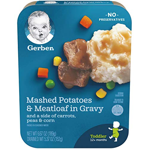 Gerber Graduates Lil' Entrees, Mashed Potatoes & Meatloaf Nuggets in Gravy with Carrots, Peas & Corn, 6.67 oz