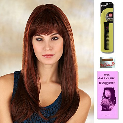 Celine by Henry Margu, Wig Galaxy Hair Loss Booklet & Magic Wig Styling Comb/Metal Pick Combo (Bundle - 3 Items), Color Chosen: 1BH ()