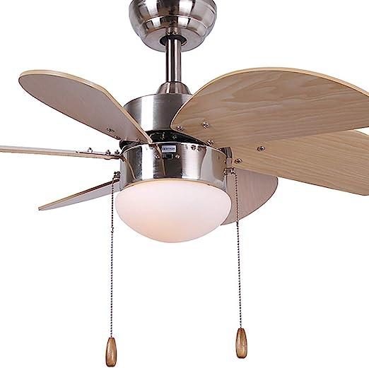 WWLONG Coloree la luz del Ventilador del Ventilador del Techo de ...
