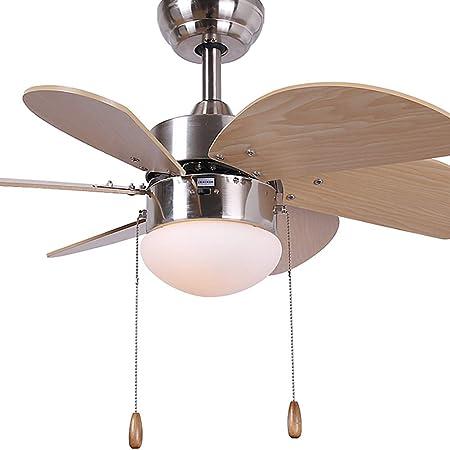 WWLONG - Ventilador de Techo para niños (76 cm, luz LED Decorativa ...