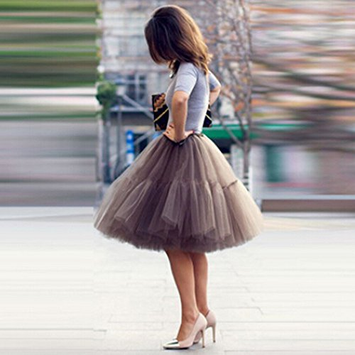 Drape Plisse Tutu Gris qualit Jupe Jupe Haute de Womens ESAILQ Danse Gaze Adulte Tq1nYAxx