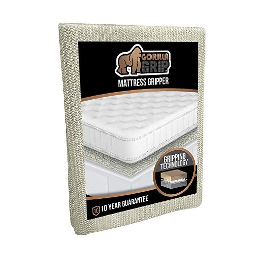 Gorilla Grip Original Slip Resistant Mattress Gripper Pad Helps Stop Bed And Topper From Sliding Stopper Works On Sofa Futon And Couch Easy To Trim Size Strong Durable Grips Help Slipping Full