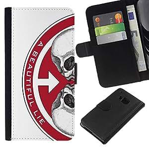 NEECELL GIFT forCITY // Billetera de cuero Caso Cubierta de protección Carcasa / Leather Wallet Case for HTC One M9 // UNA VIDA HERMOSA