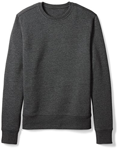Amazon Essentials Men's Crewneck Fleece Sweatshirt, Charcoal Heather, Medium