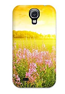 Hot Style SUorkRT5585KFBgf Protective Case Cover For Galaxys4(flower)