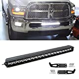 "iJDMTOY Complete Lower Bumper Grill Mount 21"" 100W CREE High Power LED Light Bar System Combo For 2003-2016 Dodge RAM 2500 3500"