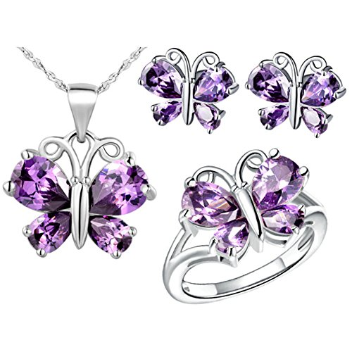 Babao-Jewelry-Purple-Butterfly-18K-Platinum-Plated-Cubic-Zirconia-Crystals-Pendant-Necklace-Earrings-Set-with-925-Sterling-Silver-Necklace