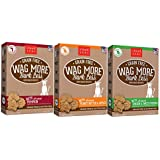 Cloud Star Wag More Bark Less Grain Free 14 Ounce Oven Baked Biscuits, 3 Pack Bundle (Chicken and Sweet Potatoes, Peanut Butter and Apples, and Pumpkin)