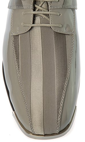 Parrazo Uomo Slip-on Oxford-scarpe In Raso Moda Casual Superiore O Abito Formale Da Lavoro Grigio