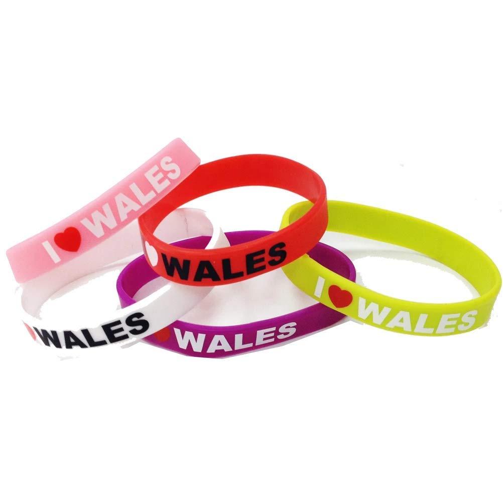 I Love Wales Silicone Wristband