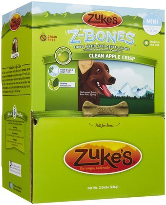 - Zuke'S Z-Bones Mini Clean Apple Crisp Dental Dog Treats - 72Ct