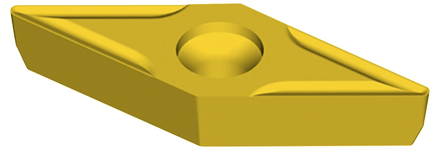 3//32 Thickness 0.015 Corner Radius Pack of 10 UD52 Grade 5 Degree Positive Clearance Angle 0.250 Inscribe Circle Size Ultra-Dex VBMT 21.51 UD52 35 Degree Diamond Insert