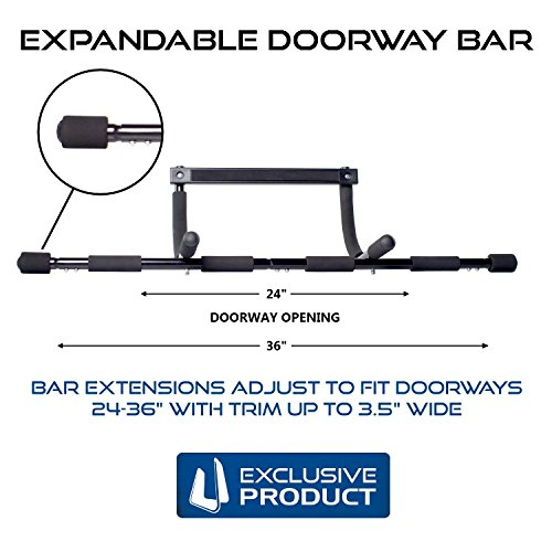 Ultimate Body Press Doorway Pull Up Bar with Adjustable Width