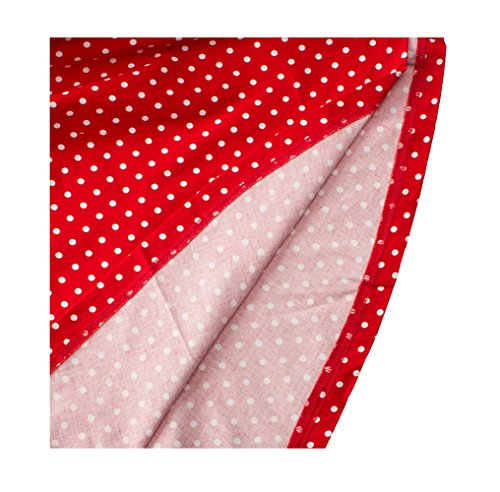 Party Dots DAROJ Rockabilly Cocktail Red V Dress Deep Vintage s Neck Women Polka 1950 vn4rqnPX