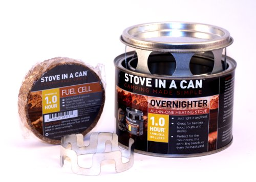 Overnighter By Stove in a Can - Compact, Lightweight, Outdoor Camp / Cooking Kit - Perfect for Camping, Backpacking, and Emergency Kits