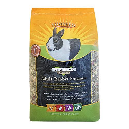 Sunseed 36089 Vita Prima Sunscription Adult Rabbit Food - High Fiber Timothy Formula, 8 ()