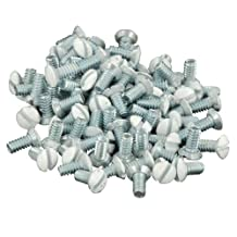Leviton 88400-PRT 5/16-Inch Long 6-32 Thread, Oval Head Milled Slot Replacement Wallplate Screws, 10-Pack (White)