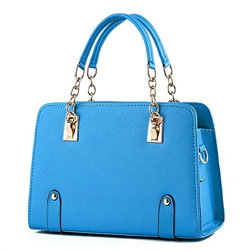 BeAllure Women's Stylish Designer Top-Handle Handbag for Ladies (Blue)