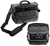 """Navitech Grey Camcorder Carry Bag with Shoulder Strap Compatible with TheFitiger 2.7"""" LCD Screen Digital Video Camcorder"""
