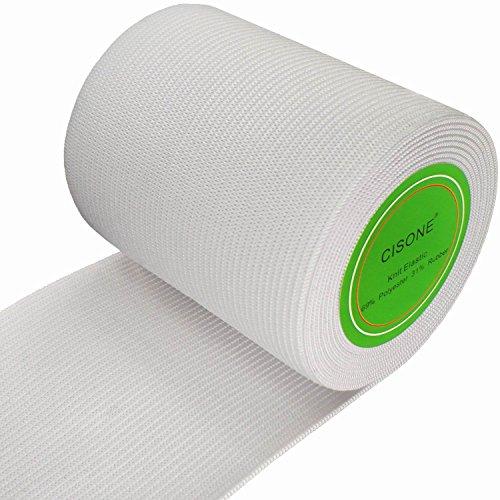 3 Inch Elastic - Knit Elastic 3 Inch Wide White Heavy Stretch High Elasticity Knit Elastic Band 3 Yards