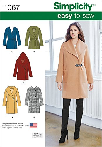 - Simplicity 1067 Learn to Sew Women's Jacket and Coat Sewing Pattern, Sizes 14-22
