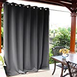 NICETOWN Outdoor Curtain Panel for Patio - Vertical Blinds Thermal Insulated Grommet Extra Wide Blackout Door Curtain/Drape for Party/Sun Room/Terrace (Grey, 1 Piece, 100 by 84-Inch)