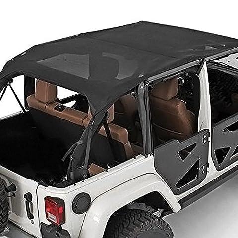 1997-2006 Jeep Tj Smittybilt Black Mesh Soft Top Outback Extended Bikini Top - 90104 Windshield