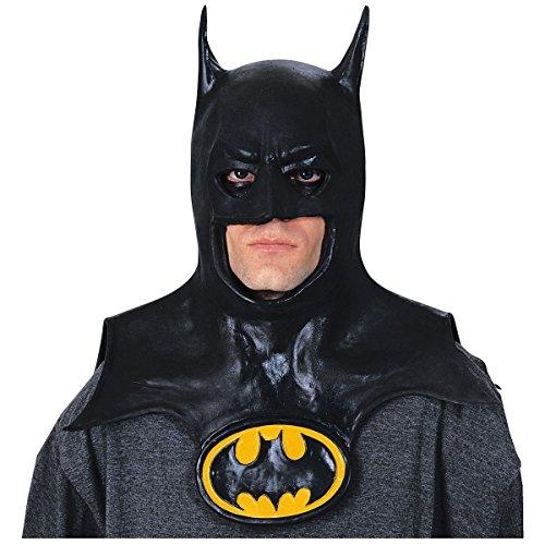 Batman Mask with Cowl Costume Accessory Adult Batman (Funny Mens Halloween Costume Ideas 2016)