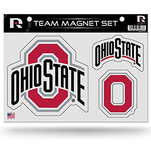 (Rico Industries NCAA Ohio State Buckeyes Die Cut Team Magnet Set)