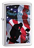 Zippo Lighter: Praying Soldier, Freedom Isn't Free - Brushed Chrome 79146