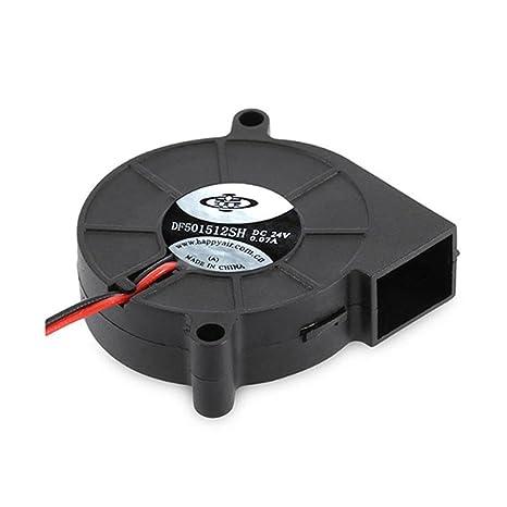 OXOQO 3D Printer Cooling Ventilador Ventilador Turbo Fan para enfriar disipadores térmicos (24V)