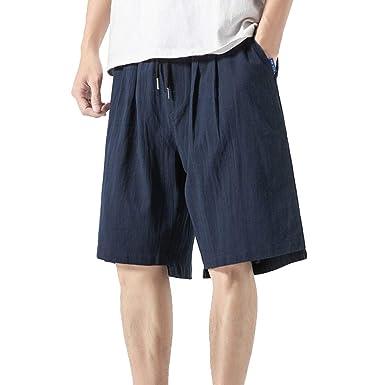 BOBOLover Pantalón de Verano Gran Tamaño para Hombre Cortos ...