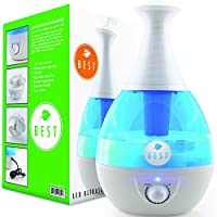 Best Cool Mist Humidifier UltraSonic Steam Vaporizer - Whisper Quiet Technolo...