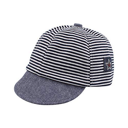 Dot Partten Baby Caps Summer Girl Boys Sun Hat with Ear Spring Summer Newborn Photography Props (Cotton Navy)]()