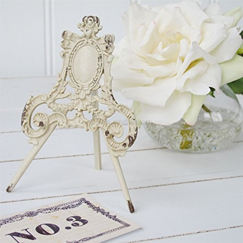 2 x Cream Ornate Easel Name