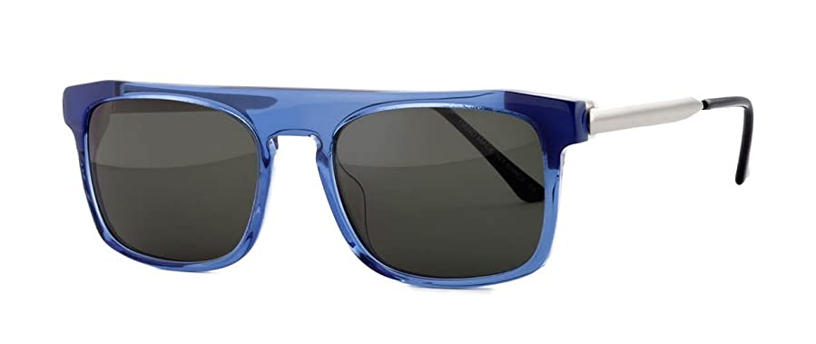 Amazon.com  Thierry Lasry Kendry Sunglasses 862 Blue w  White Frame ... 4411af63cfc6