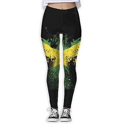 26aaee61a6655 Amazon.com: ZGXJJPP Trendy Design Workout Leggings - Fun Jamaican Flag Cute  Patterns: Sports & Outdoors