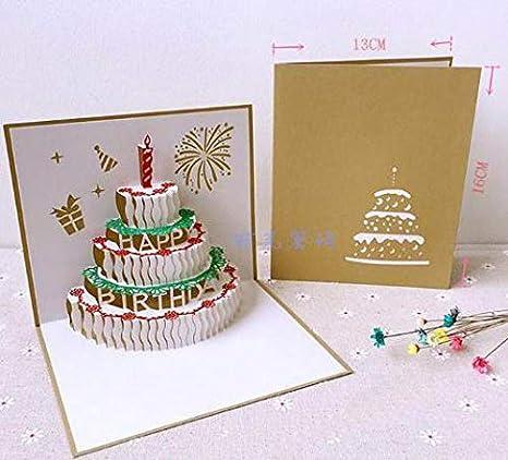 Amazon.com: Tarjeta de felicitación 3D con diseño de pavo ...